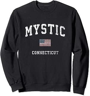 Mystic Connecticut CT Vintage American Flag Sports Design Sweatshirt