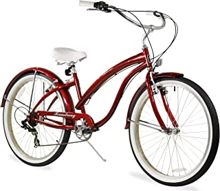 red vintage style bike