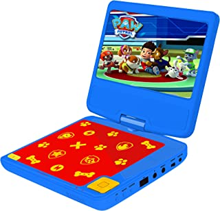 Lexibook DVDP6PA Paw Patrols Portable DVD Player with Car Adaptor and Remote