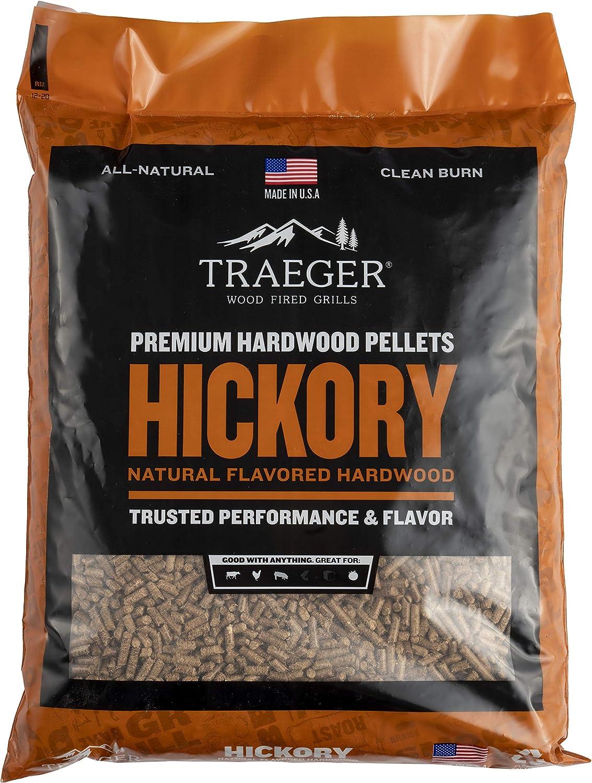 Traeger Grills PEL319 Hickory 100% All-Natural Hardwood Pellets Grill