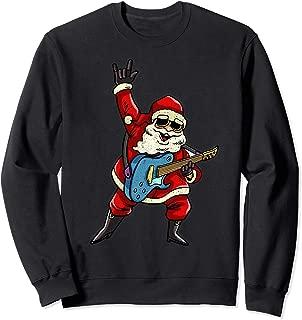 Santa Claus Rocker Sweatshirt Rockstar Christmas Shirt