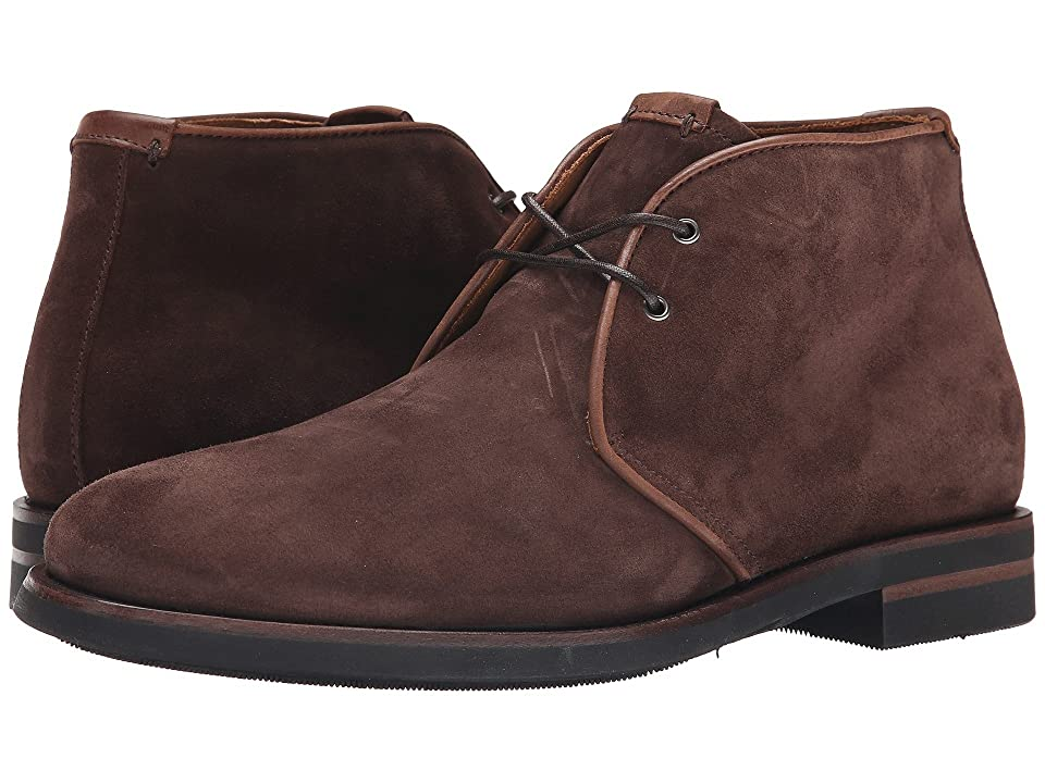 Aquatalia Carlos (Rusty Brown Oiled Waxy Suede) Men