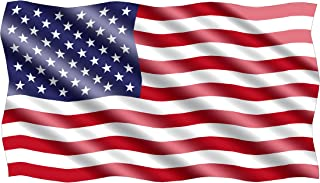 10x6 Large Waving American USA Flag Car Truck Window Decal Sticker Patriotic Auto Bumper Sticker Vinyl For Car Truck RV SUV Boat Support US Military