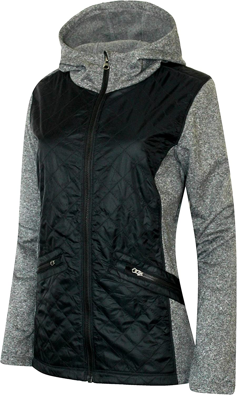 Columbia Easy-to-use Women's Cedar Express Hybrid Hooded Kansas City Mall Jacket Full Zip