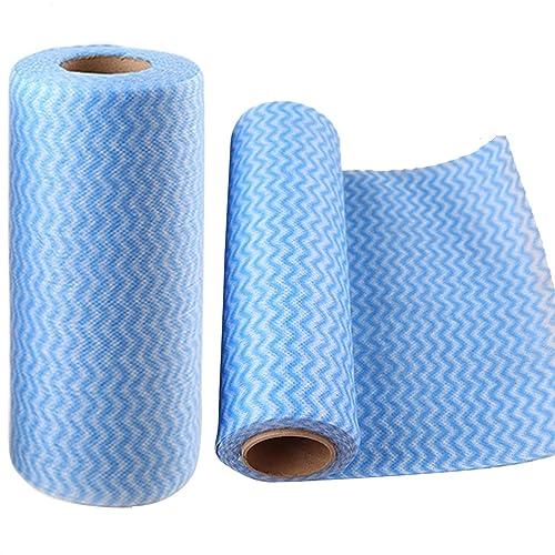 10e246b5db Rotolo di 50Pcs multiuso tessuto Non tessuto antiaderente asciugandosi  stracci casa pulizia panno cucina piatto canovaccio