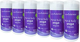 Yoga Wipes for Body and Mat - CASE of 6 - Natural Lavender and Tea Tree - by Jasmine Seven - for Studio, Gym, and Spa