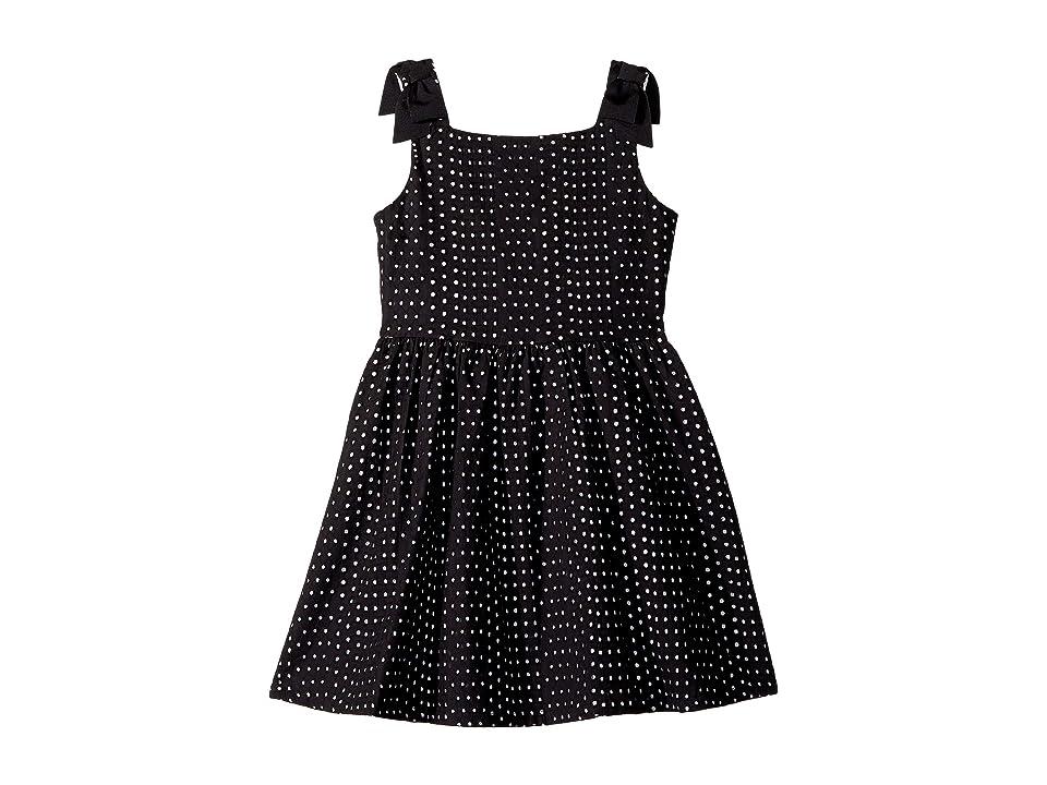 Janie and Jack Sleeveless Eyelet Dress (Toddler/Little Kids/Big Kids) (Black) Girl