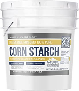 Corn Starch (3.5 Gallon (18 lb.)) by Earthborn Elements, Resealable Bucket, Thickener For Sauces, Soup, & Gravy, Highest Quality, All-Natural, Kosher, USP & Food Grade, Vegan, Gluten Free