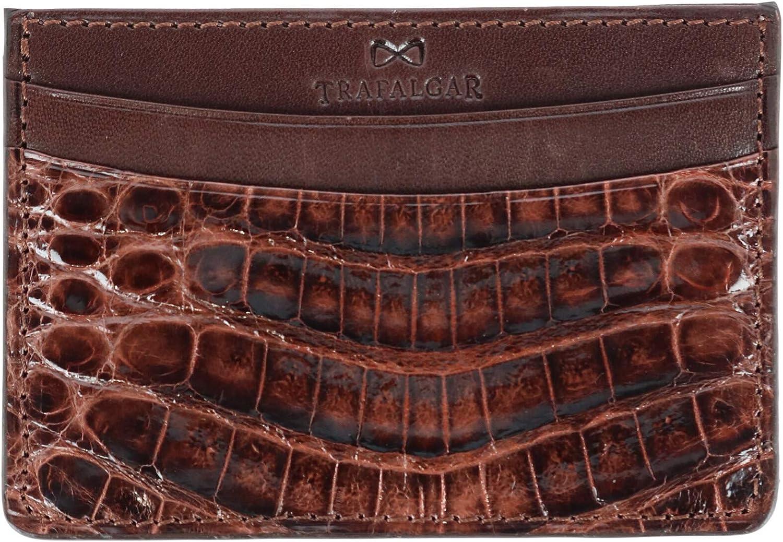 Trafalgar Men's Genuine Max 48% OFF Crocodile Case Max 87% OFF Card