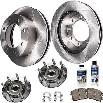 2006 Chevy Silverado 2500HD 2WD//4WD OE Replacement Rotors w//Ceramic Pads F