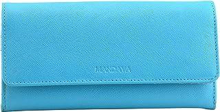 MANDAVA Safiano Genuine Leather Turquoise Ladies Wallet
