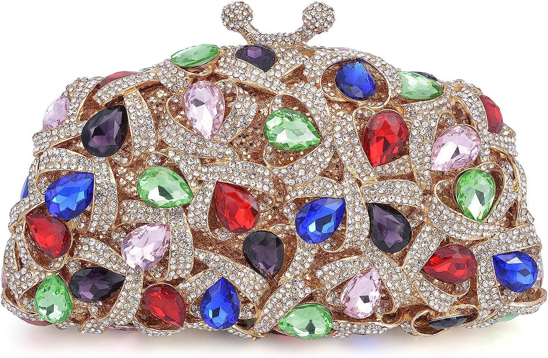 Mossmon Luxury Crystal Clutch Evening Bag Rhinestones 超人気 専門店 即納最大半額