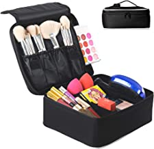 Travel Makeup Organizer by Eliza Huntley – Makeup Travel Case & Toiletry Travel Bag for Women – Portable Cosmetic Case – Makeup Bag With Adjustable Dividers for Makeup Brushes, Jewelry, Toiletries