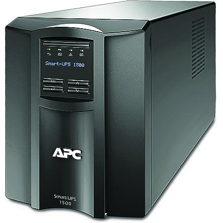 APC 1500VA Smart UPS with SmartConnect, SMT1500C Sinewave UPS Battery Backup, AVR, 120V, Line Interactive Uninterruptible Power Supply Black