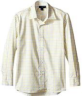 Oscar de la Renta Childrenswear - Check Cotton Long Sleeve Dress Shirt (Toddler/Little Kids/Big Kids)