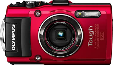 Olympus TG-4 16 MP Waterproof Digital Camera with 3-Inch LCD (Red)