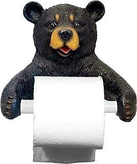 Best DWK - Hugo Holder - Black Bear Toilet Paper Holder Rustic Woodland Forest Themed Kitchen Bathroom Cabin Mancave Décor, 8-inch Review
