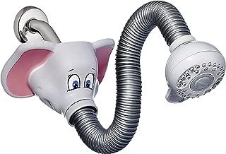 Waterpik KSH-306T Safari Spray Elephant Flexible Kids Shower Head, Light Gray
