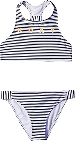 Surfing Free Crop Top Swim Set (Big Kids)