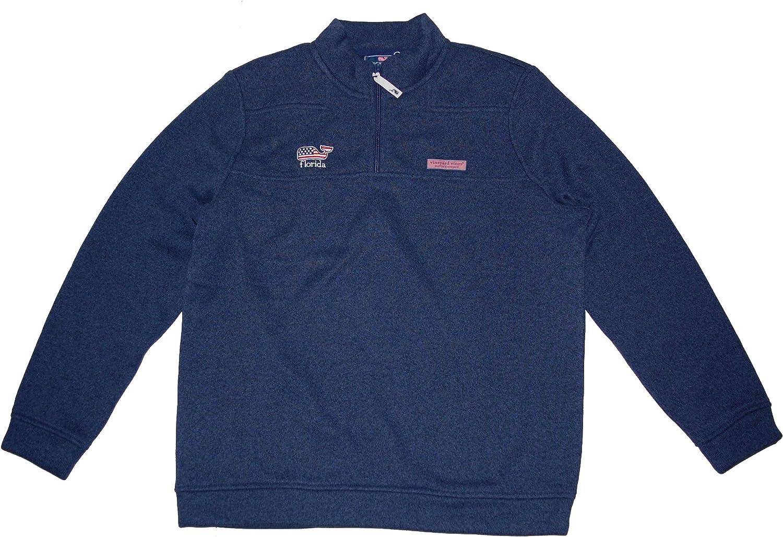 Vineyard Vines Men's Florida Sweater Shep Half Zip Pullover Large Blue