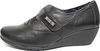 f5d769a2 Zapato cuña abotinado mujer DORKING-FLUCHOS - Disponible en colores negro y  cuero - 6009