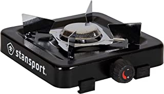 STANSPORT - Single Burner Propane Burner Camping Stove (5,500 BTU, Black)
