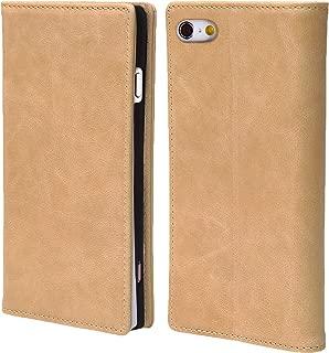 steady advance 最高級 本革 (牛革) iPhone6 iPhone6s アイフォン6 用 スマホ ケース 手帳型 < 硬度 9H 強化 ガラスフィルム > セット マグネット式 ソフトレザー (iPhone 6s, カメオベージュ)