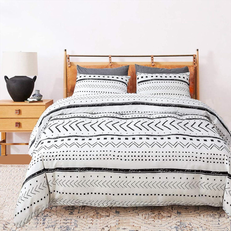 Luxlovery Boho Sale price Under blast sales White Comforter Set Bedding Farmhouse King Comfor