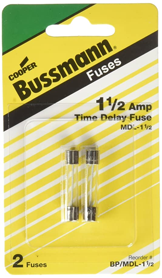 Bussmann BP/MDL-1-1/2 MDL Series 1/4? x 1-1/4? Time-Delay, Glass Tube Fuse - 250 Volts