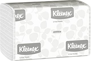 Kleenex C Fold Paper Towels (01500), Absorbent, White, 16 Packs/Case, 150 C-Fold Towels/Pack, 2,400 Towels/Case