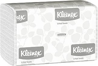 Kleenex C Fold Paper Towels (01500), Absorbent, White, 16 Packs/Case, 150 C-Fold Towels/Pack, 2,400 Towels/Case