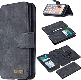 [BF07] Etui do Apple iPhone XS MAX etui na telefon z klapką na zamek błyskawiczny portfel pokrowiec skóra 3