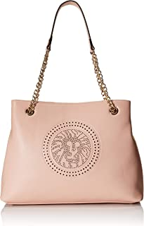 Anne Klein Womens Perf Lion Chain Tote