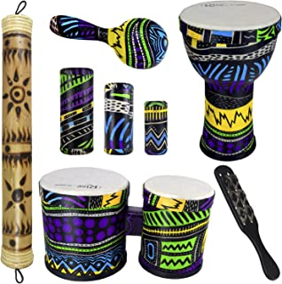 Jamaican Rasta Hat with Dreadlocks /& Inflatable Bongo Drums Caribbean Party Set