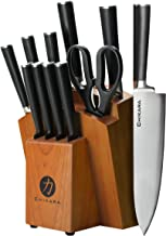 Ginsu Gourmet Chikara Series Forged 12-Piece Japanese Steel Knife Set – Cutlery Set with 420J Stainless Steel Kitchen Knives – Finished Hardwood Block, 07132DS
