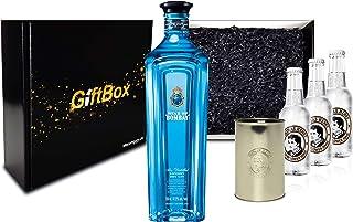 Gin Tonic Set Giftbox Geschenkset - Star of Bombay Slow Distilled London Dry Gin 0,7l 47,5% Vol  3x Thomas Henry Elderflower Tonic 200ml inkl. Pfand MEHRWEG  Becher -Enthält Sulfite