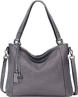 حقائب جلدية ناعمة للنساء الكتف هوبو حقيبة كبيرة حمل كروسبودي من فوق إيرث