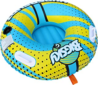 Big Sky Hypershot Towable Tube for 1 Person - Roomy, Durable Boating Tubes for Lake, Beach, River, Snow - Fun Watersports Towables - Quick Inflation and Deflation - One Person Boat Toys and Floats