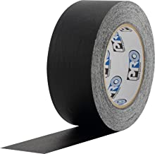 "ProTapes Colored Crepe Paper Masking Tape, 60 yds Length x 2"" Width, Black (Pack of 1)"