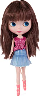 Evursua Big Head BJD Dolls12inch,Custom Dolls Compatible with Blythe Doll Clothes 2 Set,Color Eyes Changing,Doll Collector/Girls Gift