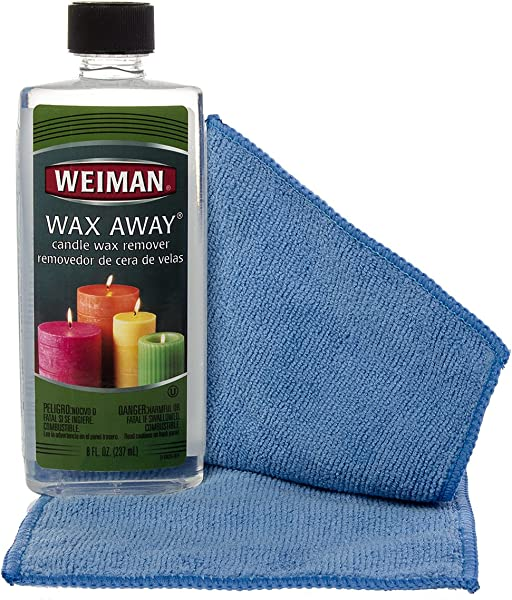 Weiman 8 Ounce Wax Away Candle Wax Remover Carpet Fabric Furniture Cleaner Packaging Design May Vary