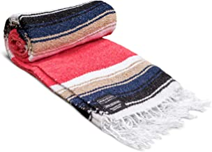 Falsa Blanket Mexican Blanket - Artisan Thick Premium Diamond Yoga Blanket Throw Blanket Couch Camping Blanket Authentic Handwoven Mexican Blankets and Throws Woven Blanket Yoga Bolster Serape Blanket