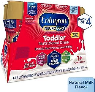 Enfagrow NeuroPro Next Step Toddler Ready to Feed Non-GMO Milk Drink - Natural Milk Flavor, 8 fl oz (24 count) - Omega 3 DHA, MFGM, Prebiotics, Iron, Vitamins (Packaging May Vary)