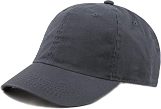 deef5890cdf THE HAT DEPOT Kids Washed Low Profile Cotton and Denim Plain Baseball Cap  Hat