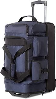 Rolling Duffel Travel Duffel Bag Wheeled Duffel Suitcase Luggage 8 Pockets