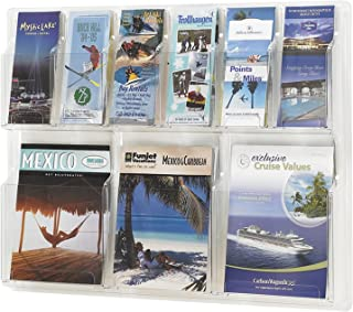 Safco Products 5605CL Reveal Literature Display, 3 Magazine and 6 Pamphlet, Clear
