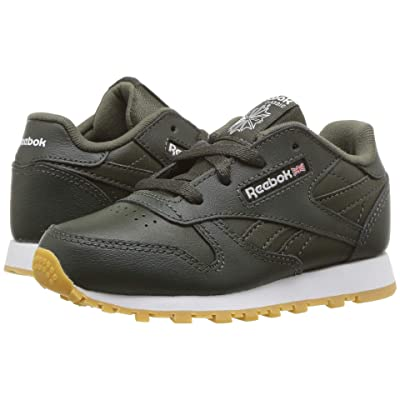 Reebok Kids Classic Leather (Infant/Toddler) (Dark Cypress/White) Boys Shoes