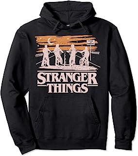 Netflix Stranger Things Night Silhouettes Sweat à Capuche
