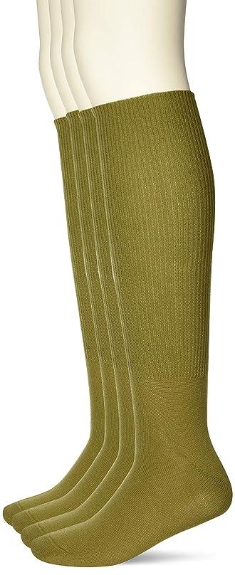 傑出したボウリング朝の体操をする[癒足] 日本製4足セット 紳士ハイソックス綿混超らくらく エコ包装 超らくらく
