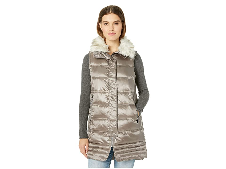 Sam Edelman Faux Fur Puffer Vest (Toffee) Women
